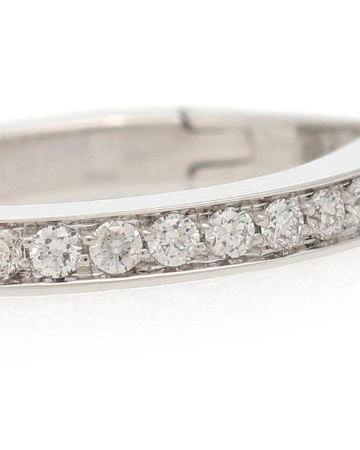 Argolla única Antifer de oro blanco de 18 ct y diamantes Repossi de color Multicolor