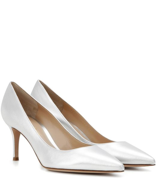 Gianvito Rossi - Exclusive To Mytheresa – Gianvito 70 Metallic Leather Pumps - Lyst