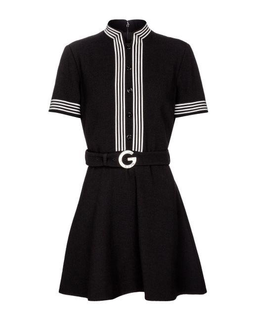 Robe en crêpe de laine Gucci en coloris Black