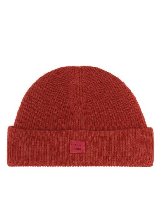 Acne Fa-ux-hats000026 Brick Red Wool Beanie