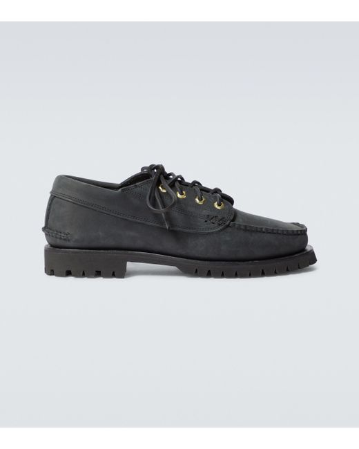 Yuketen Black Angler Shoes With Cortina Sole for men