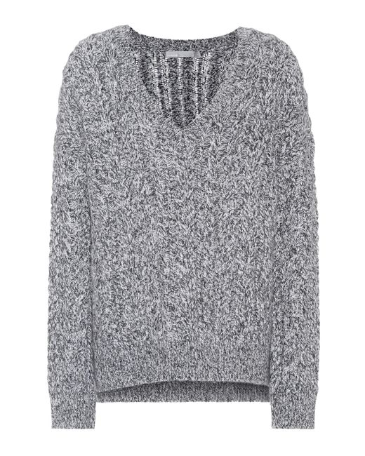 Vince | Gray Marled Wool-blend Sweater | Lyst