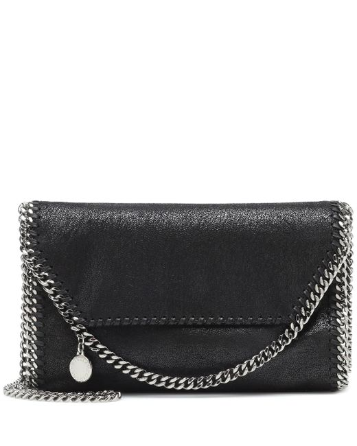 Stella McCartney Black Falabella Small Shoulder Bag