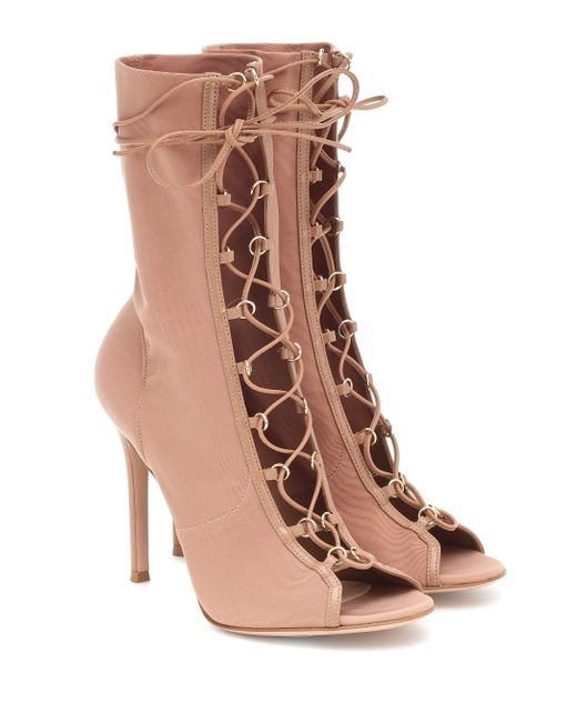 Gianvito Rossi Natural Ankle Boots Stevie