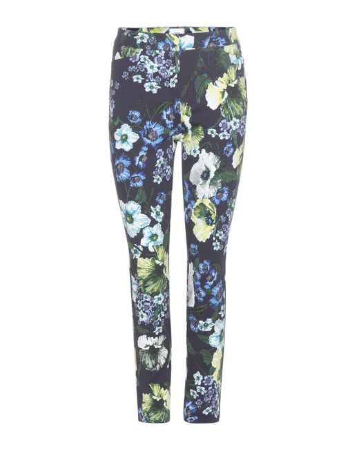 Erdem - Blue Sidney Printed Cotton-blend Trousers - Lyst