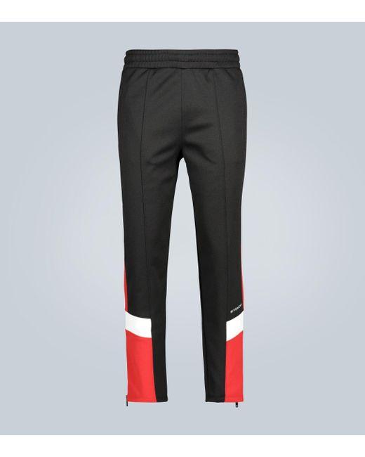 Pantalones de chándal a contraste Givenchy de hombre de color Black