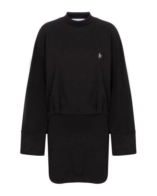 Robe Palmer en coton The Attico en coloris Black