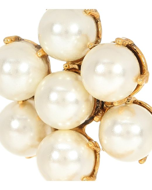 Aretes Leilani con perlas Jennifer Behr de color Metallic