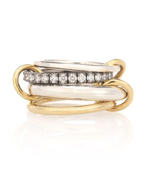 Spinelli Kilcollin Metallic Jansenn Wg 18kt Yellow Gold Diamond Ring