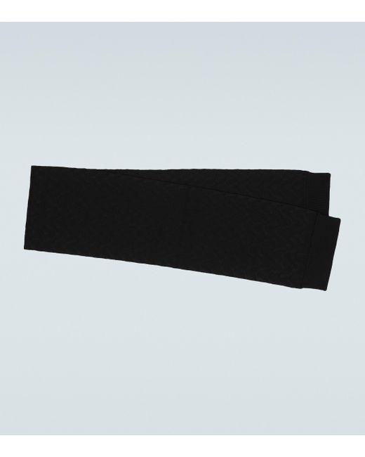 Valentino Garavani Black Knitted Wool-blend Scarf for men