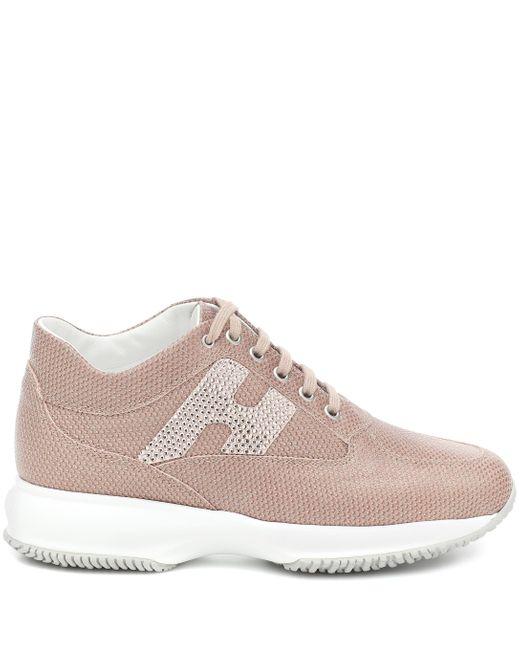 Hogan Pink Sneakers Interactive aus Mesh