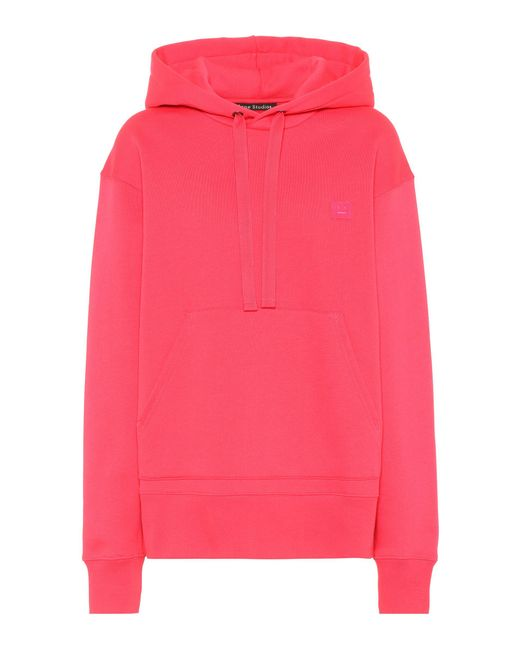 Acne - Pink Ferris Face Oversized Cotton Hoodie - Lyst