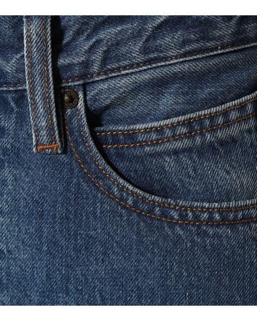 Pantalones rectos de tiro alto CALVIN KLEIN JEANS EST. 1978 de color Blue
