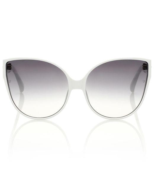 Linda Farrow - White 656 C12 Cat-eye Sunglasses - Lyst