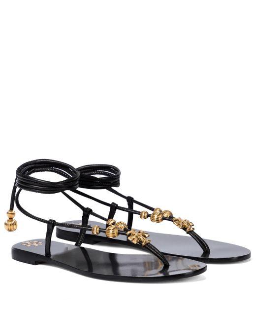 Sandales Capri en cuir Tory Burch en coloris Black