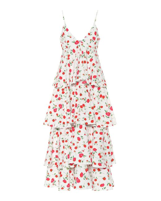 Dodo Bar Or Multicolor Sleeveless Floral-printed Dress