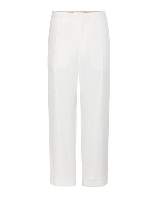 Chloé | White Cuffed Straight-leg Trousers | Lyst