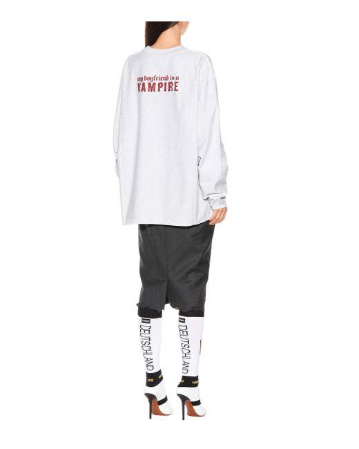 Vetements Gray Sweatshirt aus Baumwolle
