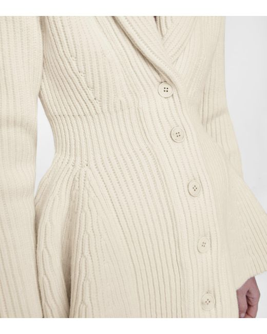 Alexander McQueen White Cardigan aus Wolle
