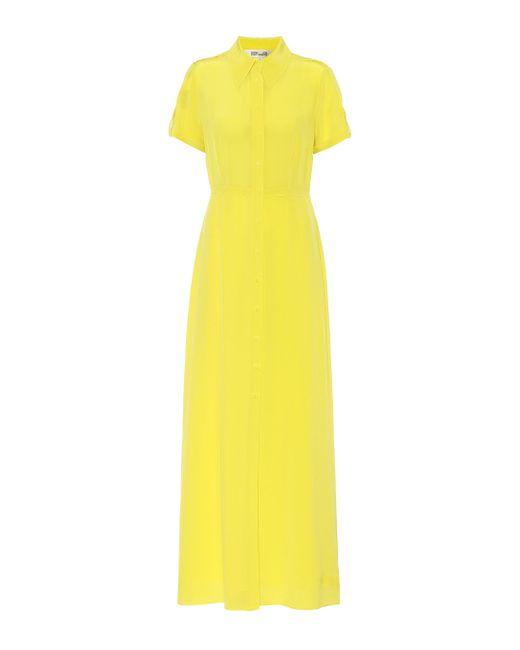 Diane von Furstenberg Yellow Georgia Maxikleid Aus Crêpe De Chine Aus Seide