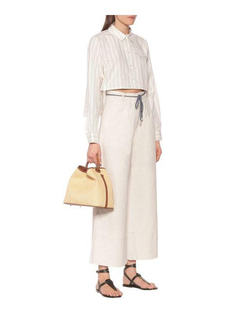 Baum und Pferdgarten Camisa Mayuri de algodón de rayas de mujer de color neutro y38cP