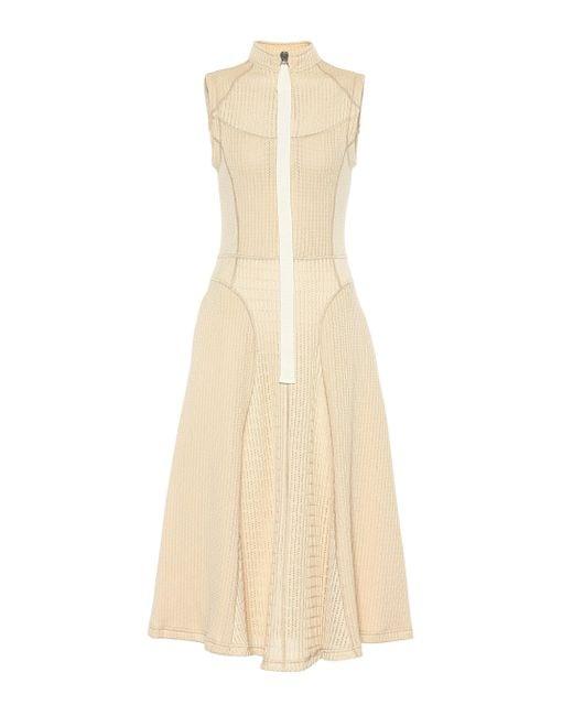 Jil Sander Natural Knitted Midi Dress