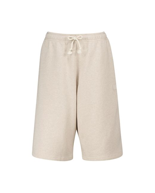 Acne Natural Cotton Jersey Shorts