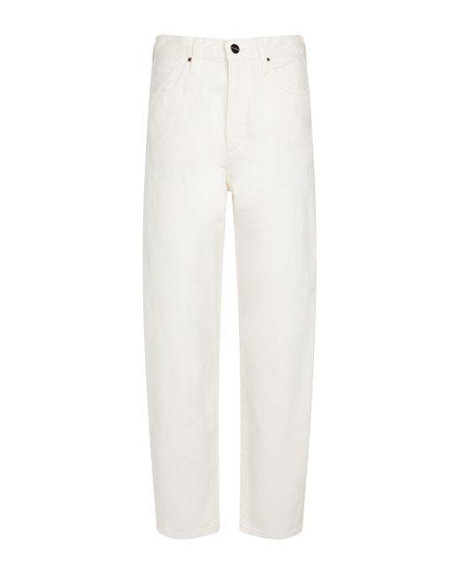 Jeans The Curved de tiro alto Goldsign de color White