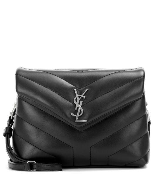 Saint Laurent Black Toy Loulou Leather Shoulder Bag