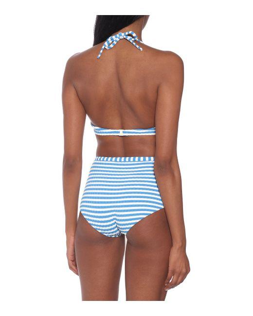 Solid & Striped Women's Blue The Ginger Bikini Top