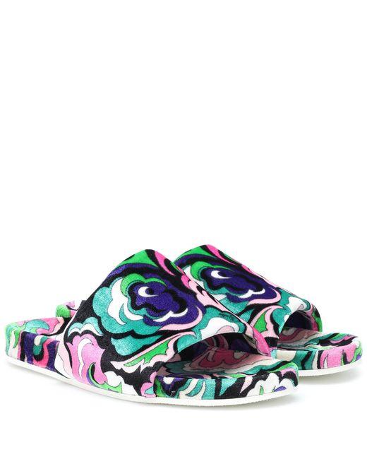 Palas de terciopelo estampadas Emilio Pucci de color Multicolor