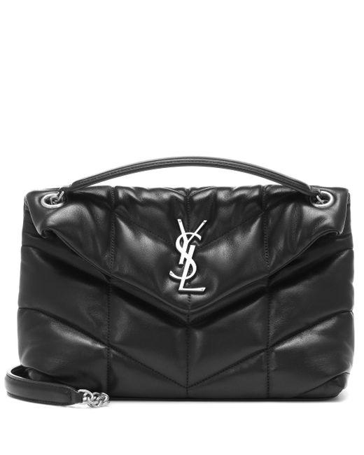 Saint Laurent Black Loulou Puffer Small Shoulder Bag