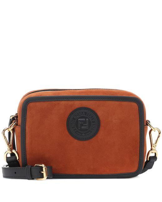 80a27c7d0b55 Fendi - Multicolor Suede Shoulder Bag - Lyst ...