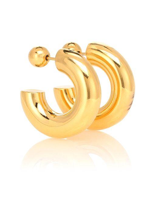 Boucles d'oreilles Donut Hoops Small en argent sterling plaqué or 18 ct Sophie Buhai en coloris Metallic