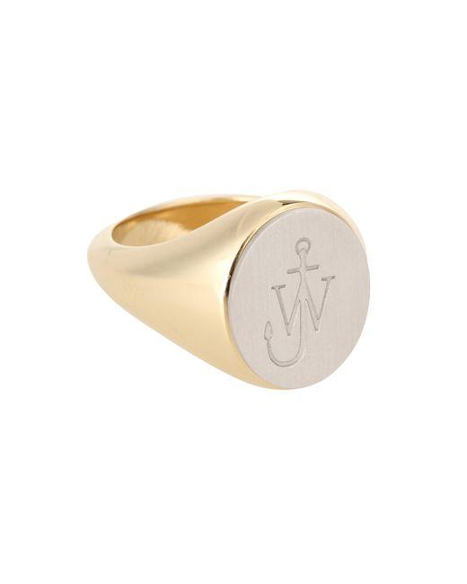 J.W. Anderson - Metallic Logo Signet Ring - Lyst