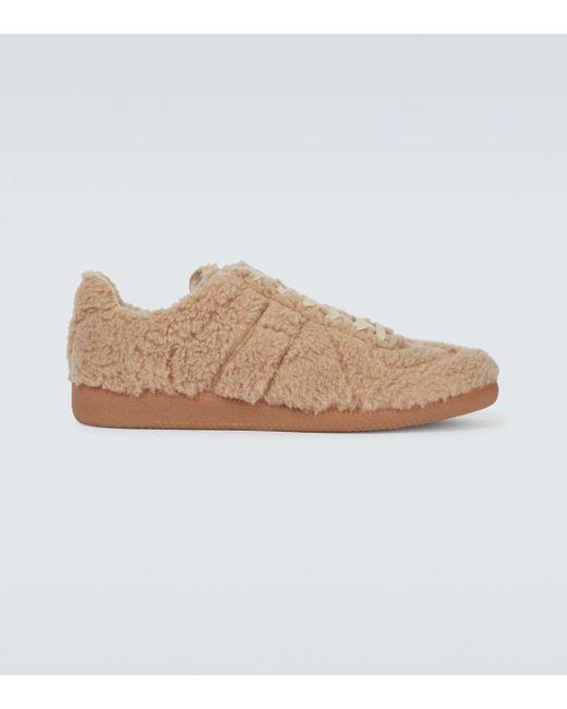 Maison Margiela Natural Replica Faux-shearling Sneakers for men