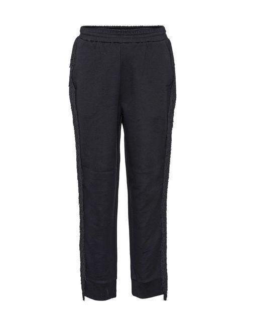 Stella McCartney - Black Fringe Cotton-blend Trousers - Lyst