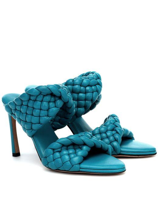 Bottega Veneta Blue CURVE SANDALS