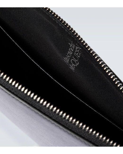 Bustina in pelle di Alexander McQueen in Black da Uomo