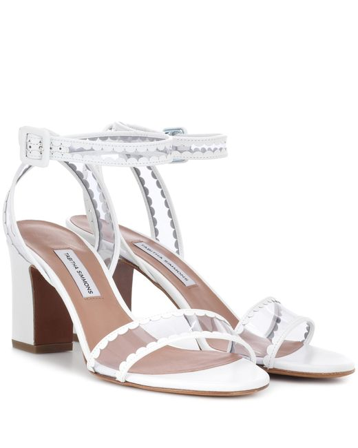 Tabitha Simmons - White Leticia Frill Leather Sandals - Lyst