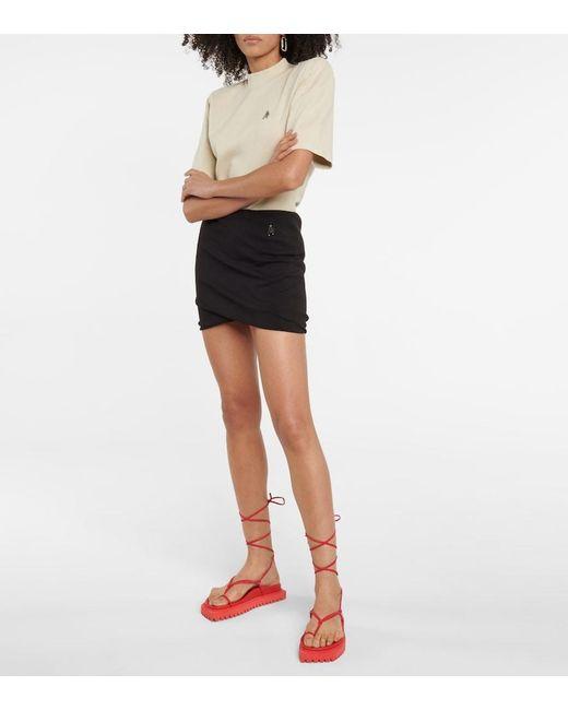 Minigonna Ezra in cotone di The Attico in Black