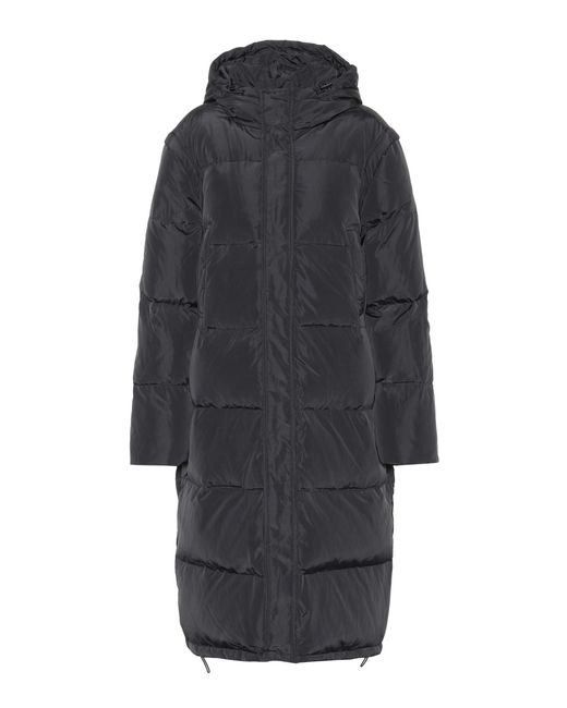 Ganni - Black Whitman Quilted Down Coat - Lyst