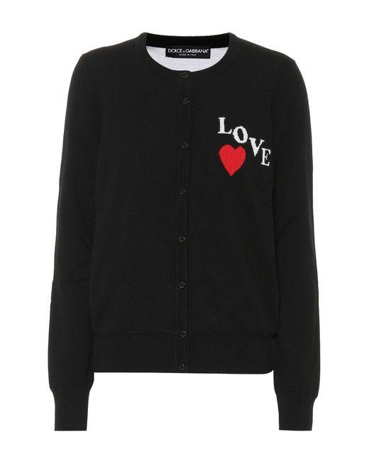 Dolce & Gabbana - Black Cashmere Cardigan - Lyst