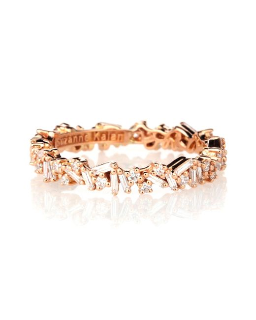 Suzanne Kalan Metallic 18-karat Gold Diamond Ring