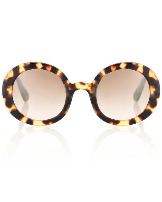 528afc88814 Miu Miu - Brown Round Sunglasses - Lyst ...