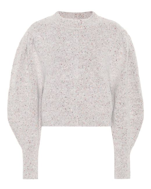 Isabel Marant - Gray Elaya Alpaca-blend Sweater - Lyst