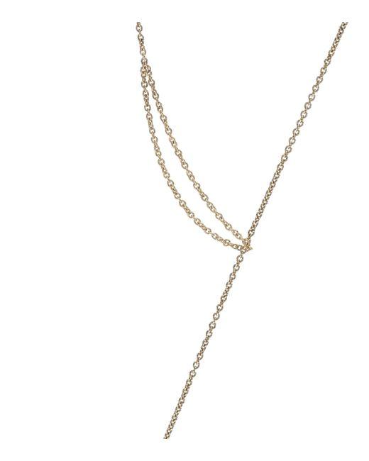 Sophie Bille Brahe Metallic Sirene 14kt Gold Pearl Necklace