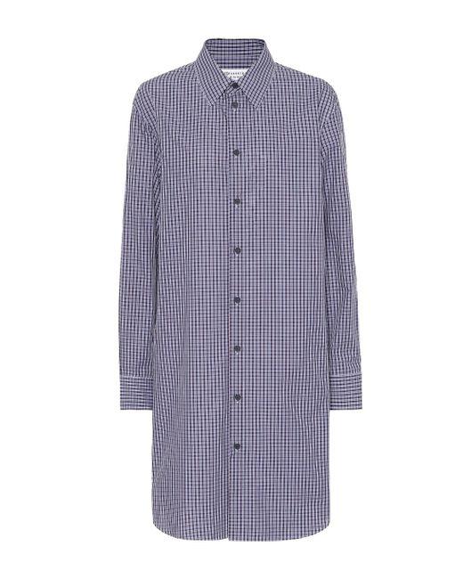 Maison Margiela Vestido camisero de algodón de mujer de color morado