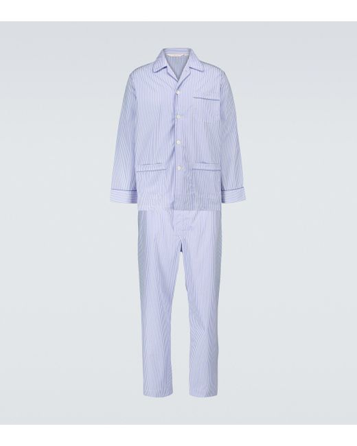 Completo pigiama James di Derek Rose in Blue da Uomo