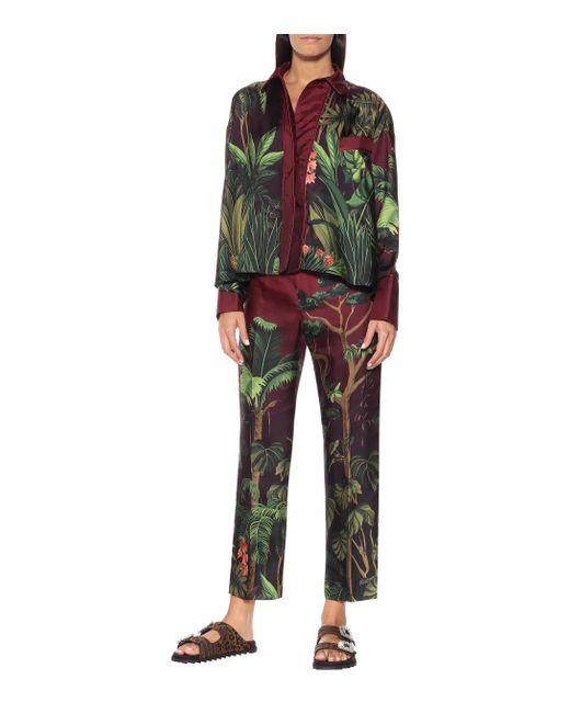 F.R.S For Restless Sleepers Multicolor Ipno Silk Pajama Top